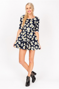 Apple Pie Bar Dress-Daisy Print