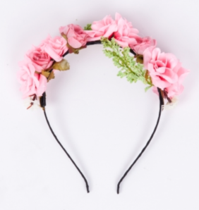 Blackcurrant Peaches Headband-Pink